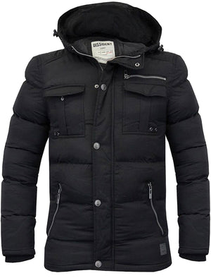 Durweston Padded Coat in Black - Dissident