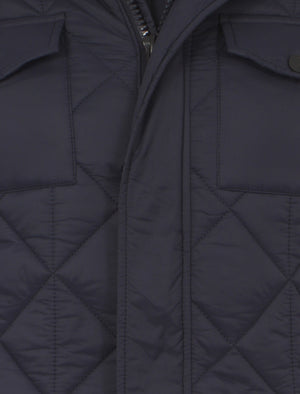 Dissident navy blue quilted jacket
