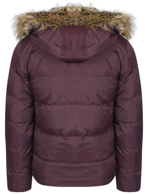 Dissident Wetherby purple padded detachable hooded coat