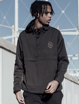 St Chalons Pullover Windbreaker Jacket in Black – Saint & Sinner