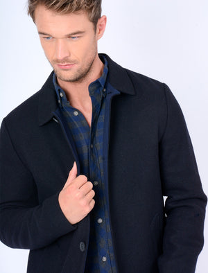 Abdale Wool Blend Coat in Navy – Tokyo Laundry