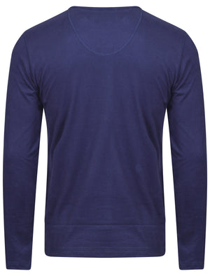 Tokyo Laundry henley top in blue