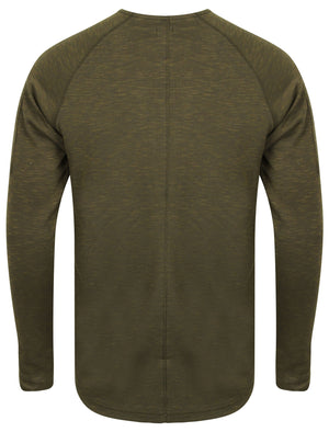Poskin Ribbed Long Sleeve Top in Khaki / Black – Dissident