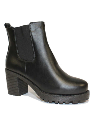 Gabi black high heeled Chelsea boots