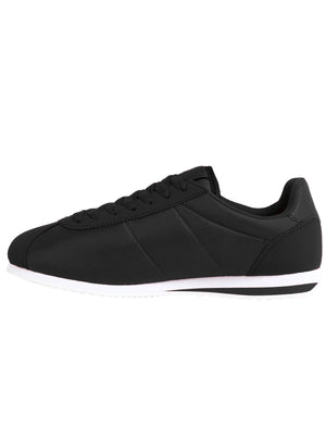 Mens Hurley Quilted Lace Up Fashion Trainers in Black