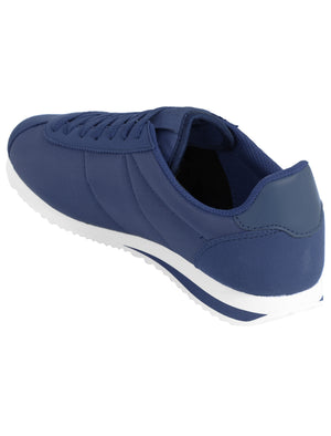Mens Hurley Quilted Lace Up Fashion Trainers in Navy