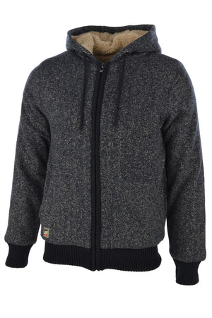 Dissident Peter Borg Lined Zip Up Hoodie in Navy