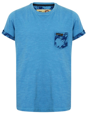 Boys K-Akamu T-Shirt with Printed Chest Pocket in Swedish Blue – Tokyo Laundry Kids