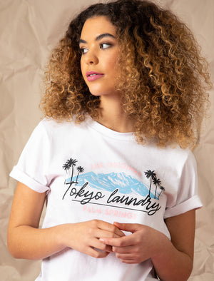 Cami Palm Springs Motif Cotton Jersey T-Shirt in Bright White – Tokyo Laundry