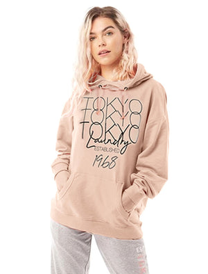 Brandy Brushback Fleece Pullover Hoodie in Cameo Rose - Tokyo Laundry