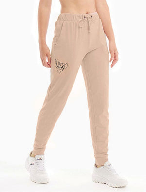 Brandy Brushback Fleece Cuffed Joggers in Cameo Rose - Tokyo Laundry