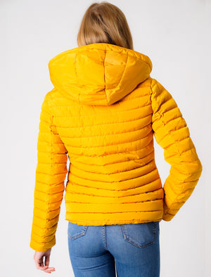 Ginger 2 Quilted Hooded Puffer Jacket in Old Gold - Tokyo Laundry