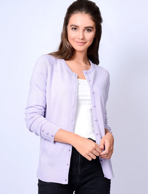 Mondarian Button Up Cardigan in Soft Lilac – Plum Tree