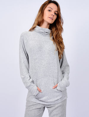 Celanna Funnel Neck Pullover Hoodie in Pale Grey – Tokyo Laundry Active