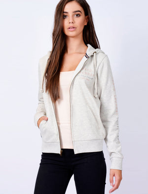 Iro Zip Through Hoodie In Oatmeal Grey – Tokyo Laundry