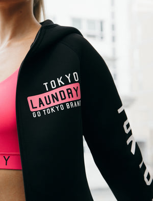 Navella Zip Through Sports Hoodie in Black – Tokyo Laundry Active