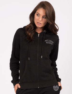 Montauk Zip Through Hoodie In Black – Tokyo Laundry Active