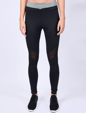 Bazos Mesh Panel Workout Leggings in Black– Tokyo Laundry Active