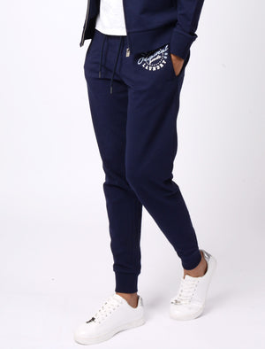 Mia Loopback Fleece Cuffed Joggers In Eclipse Blue – Tokyo Laundry