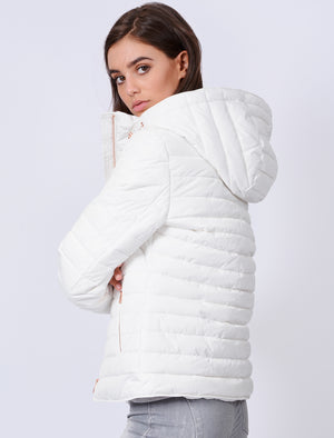 Ginger Quilted Hooded Jacket in Ivory - Tokyo Laundry