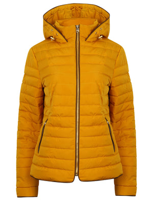 Ginger Quilted Hooded Jacket in Old Gold – Tokyo Laundry