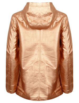 TL Seagull Hooded PU Coat in Metallic Rose – Tokyo Laundry