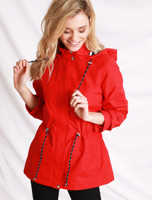 Snap Dragon Hooded Rain Coat in Red – Tokyo Laundry