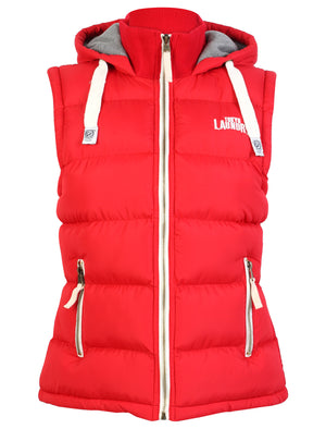 Henrietta Red Hooded Gilet - Tokyo Laundry