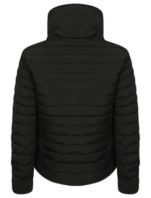 Zelda Funnel Neck Quilted Jacket in Black - Tokyo Laundry