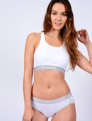 Ava Sports Bra and Briefs Set in Optic White – Tokyo Laundry