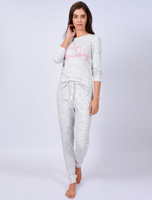 Belle Space Dye 2pcs Lounge Set in Light Grey - Tokyo Laundry