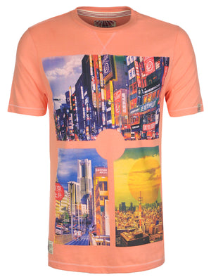 Tokyo Laundry Susumu Photo Print T-Shirt in Laundered Lilac