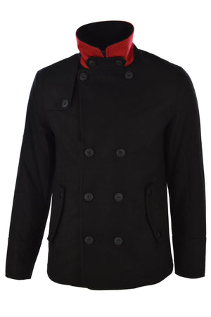 Dissident wool rich Baughman navy double-breasted jacket