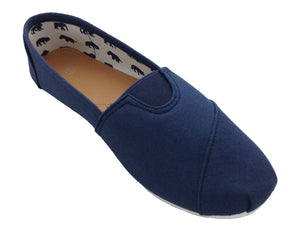 Ladies canvas espadrilles in navy