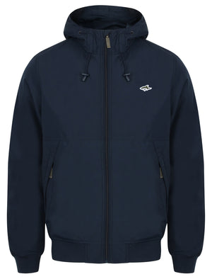 Danesdale Hooded Windbreaker Jacket in Midnight Blue – Le Shark