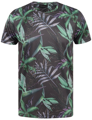 Alper Palm Leaf Sublimation Print Cotton Jersey T-Shirt In AOP – Dissident