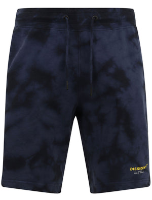 Beloff Tie Dye Cotton Fleece Jogger Shorts In Blue – Dissident