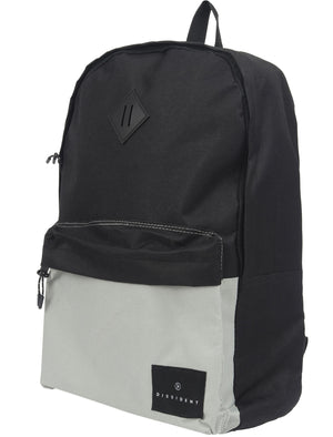 Black Rock Dessert Colour Block Canvas Backpack In Black - Dissident