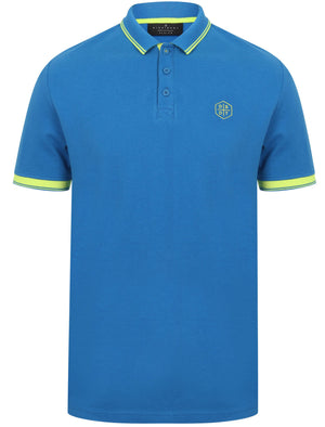 Kenji Cotton Pique Polo Shirt With Tipping in Directoire Blue – Dissident