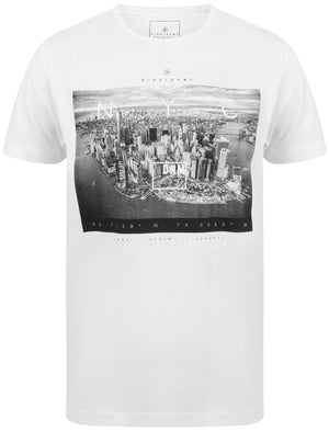 Lori NYC Skyscraper Motif Cotton Jersey T-Shirt In Optic White – Dissident