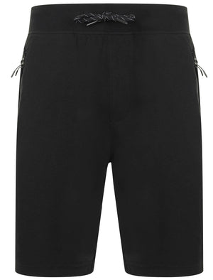 Matsuo Loopback Fleece Jogger Shorts with Zip Pockets in Jet Black - Dissident