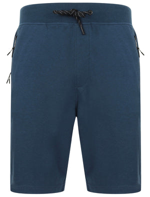 Matsuo Loopback Fleece Jogger Shorts with Zip Pockets in Sargasso Blue - Dissident
