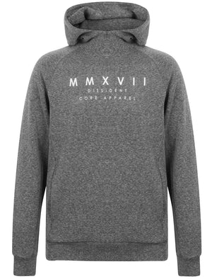 Daudi Cotton Blend Pullover Hoodie In Black & Grey Marl – Dissident