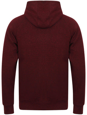 Daudi Cotton Blend Pullover Hoodie In Deep Red & Black Marl – Dissident