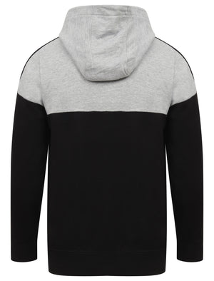 Volta Colour Block Cotton Blend Pullover Hoodie In Light Grey Marl – Dissident