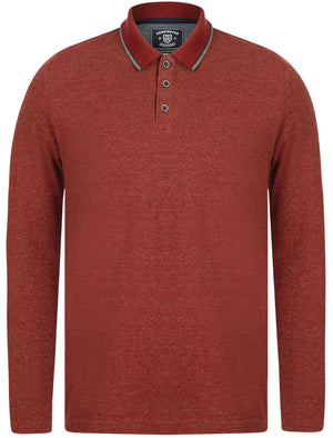 Jupe Cotton Pique Long Sleeve Polo Shirt in Fired Brick Red / White – Kensington Eastside