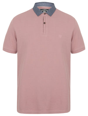 Norland Cotton Pique Polo Shirt with Chambray Collar in Deauville Mauve – Kensington Eastside