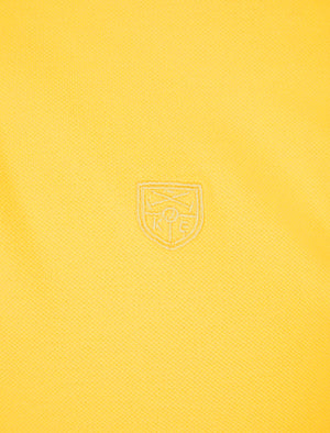 Pelier Cotton Pique Polo Shirt with Tipping in Lemon Drop - Kensington Eastside