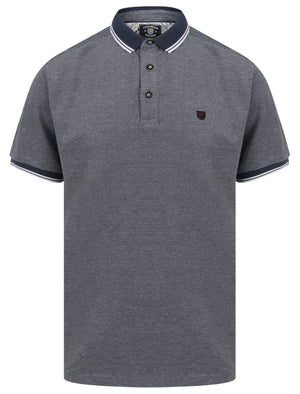 Goldsmith Jacquard Jersey Polo Shirt with Tipping In Bright White - Kensington Eastside