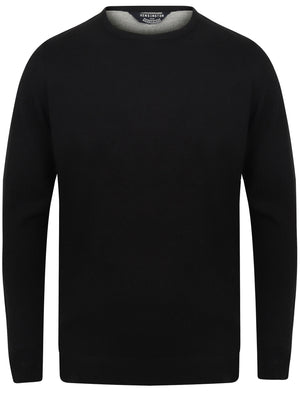 Houston Basic Crew Neck Knitted Jumper in Black – Kensington Eastside